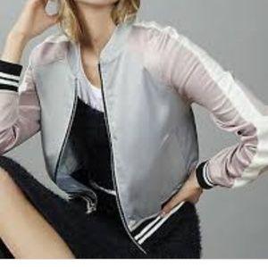 Silky womens bomber jacket